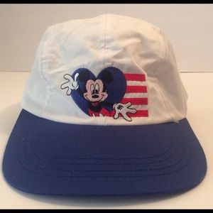 Other - Vtg Mickey Mouse Disney Strapback Cap Hat